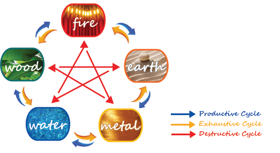 The Elements Of Color : Use the feng shui five element color cycle to change your life